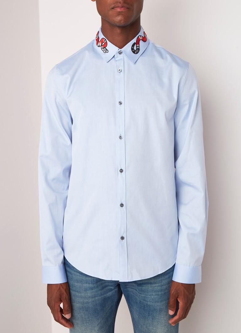 9120a8ad3b6 Gucci Snake Collar slim fit overhemd met borduring • de Bijenkorf