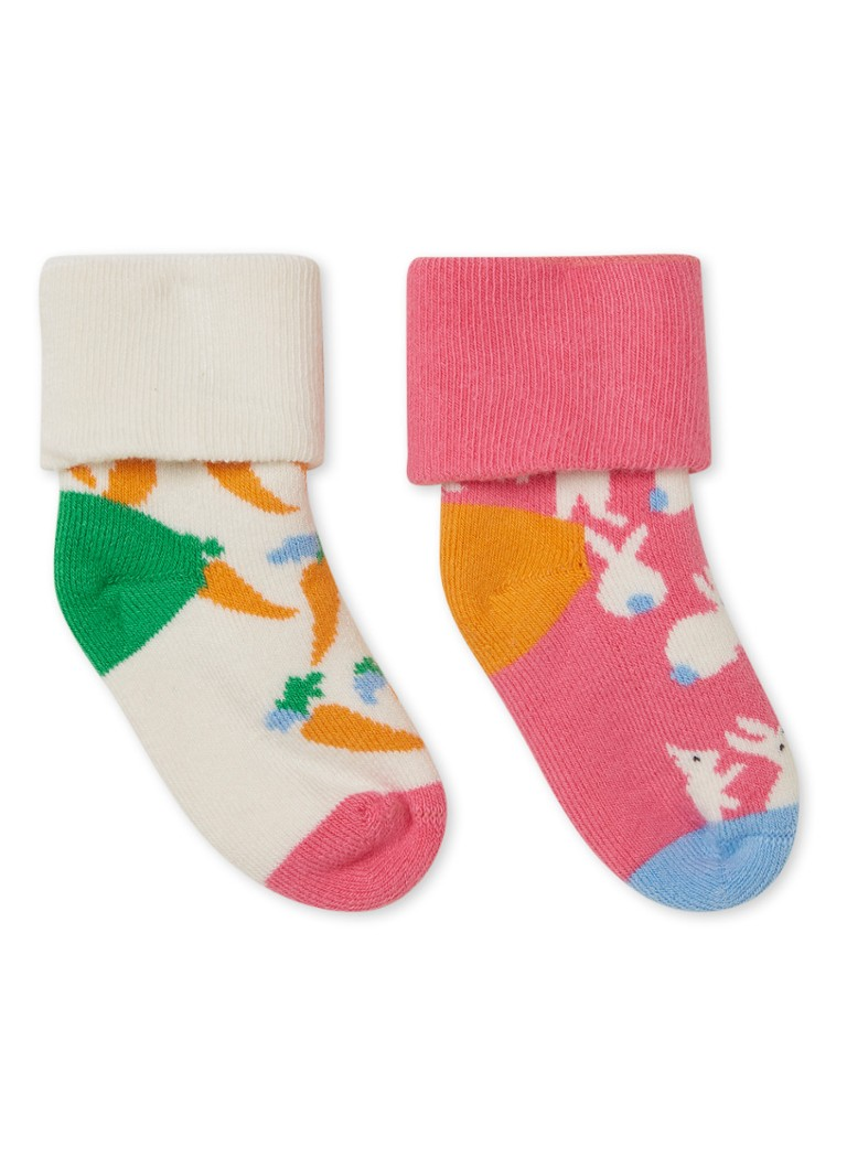 Happy Socks - Terry Bunny sokken met print in giftbox 2-delig - Multicolor