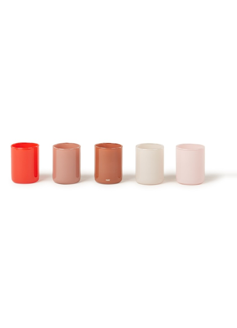 Hay - Spot Votive waxinelichthouder set van 5 - Multicolor