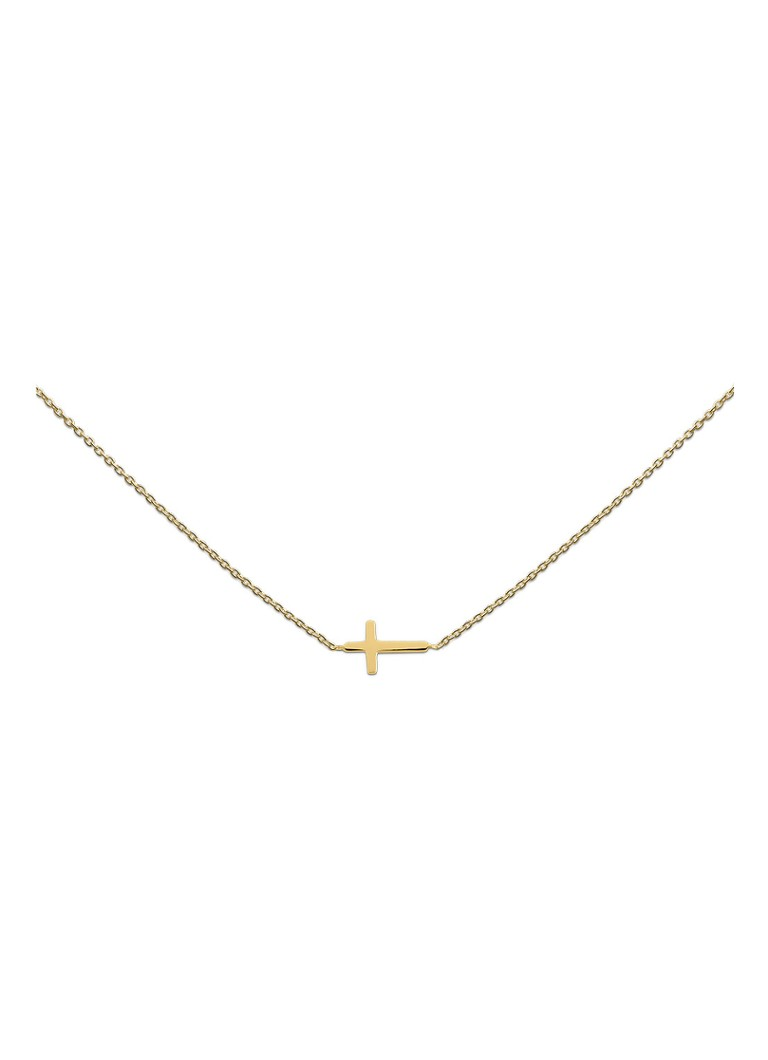 Heart to get - Cross ketting met hanger - Goud