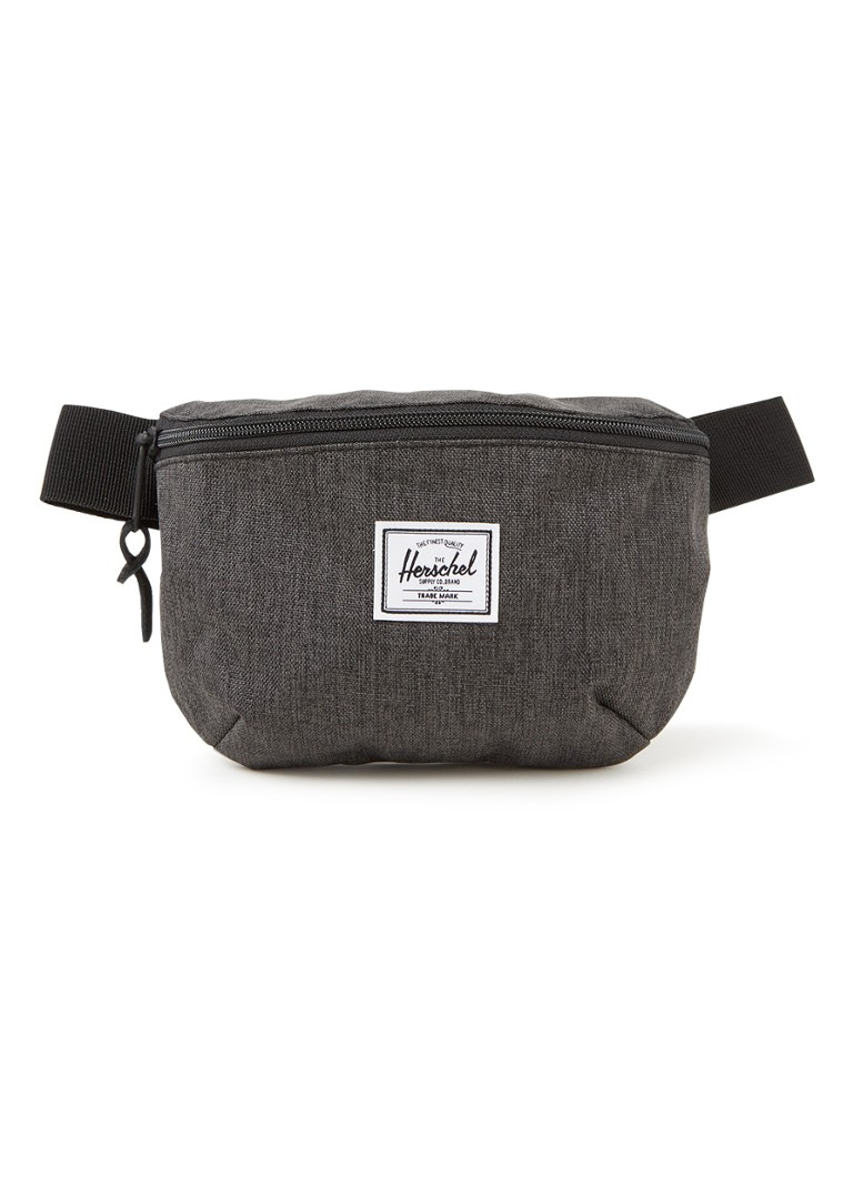 Herschel Supply - Fourteen heuptas met logopatch - Antraciet