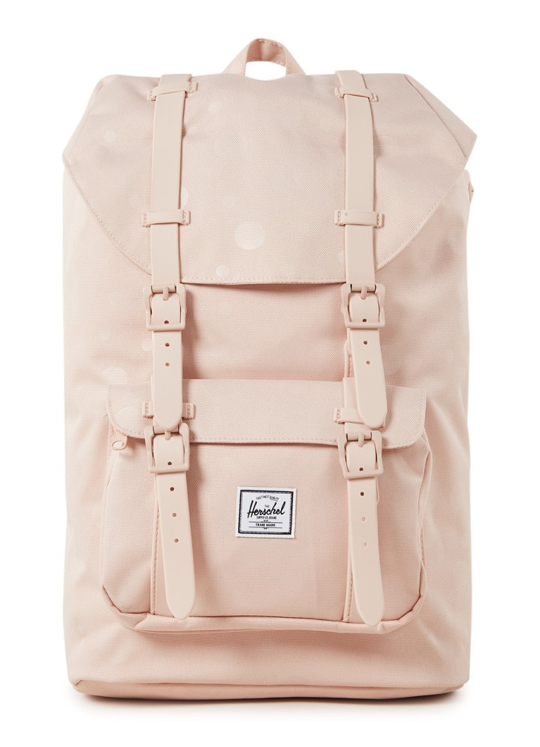 Herschel Supply - Little America M rugzak met 13 inch laptopvak - Lichtroze