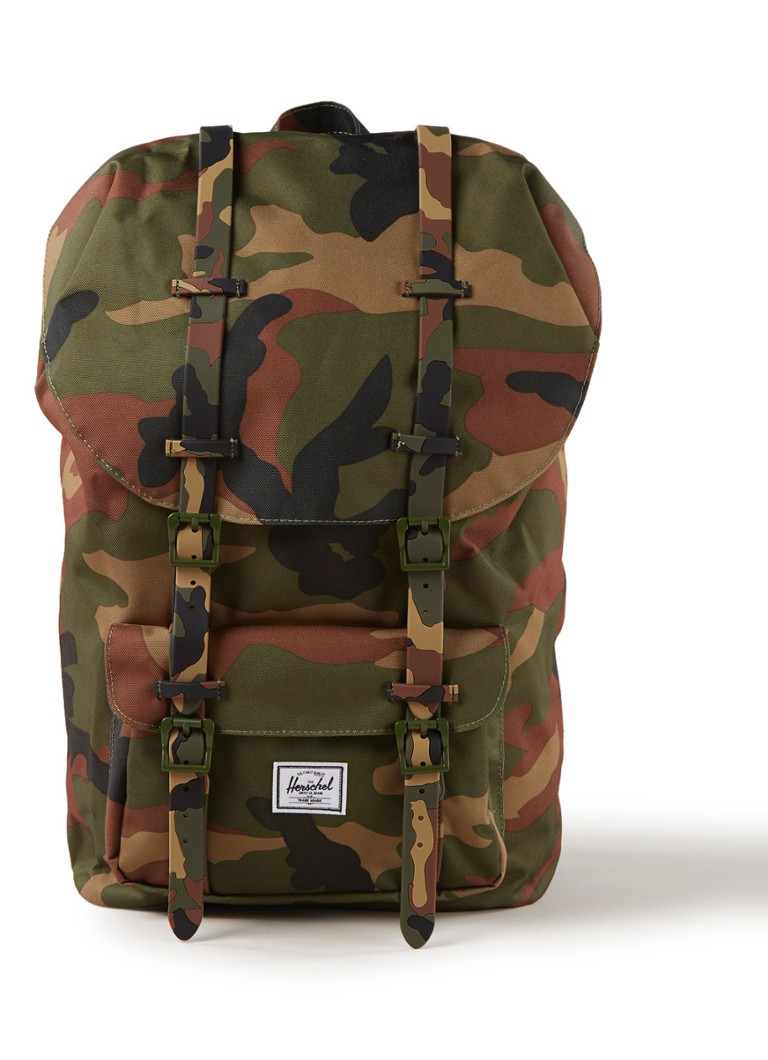 Herschel Supply - Little America rugzak met 15 inch laptopvak - Legergroen