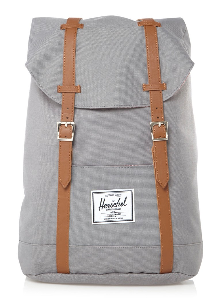 Herschel Supply - Retreat rugzak met 15 inch laptopvak - Grijs