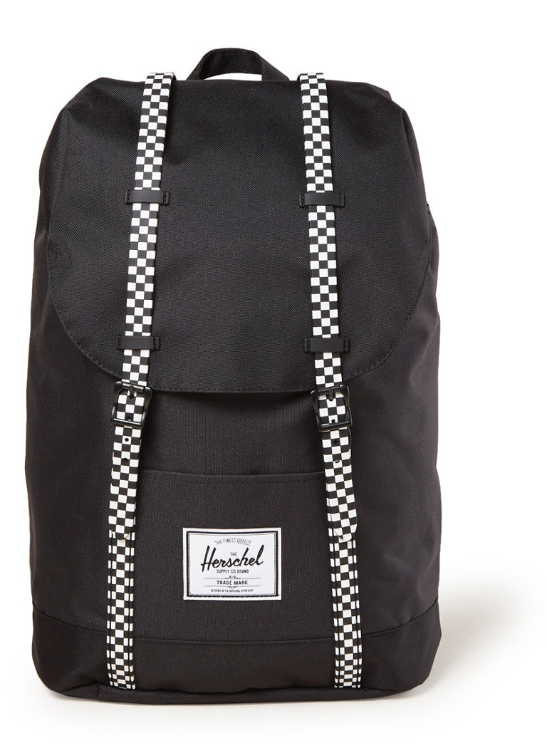 Herschel Supply - Retreat rugzak met 15 inch laptopvak - Zwart
