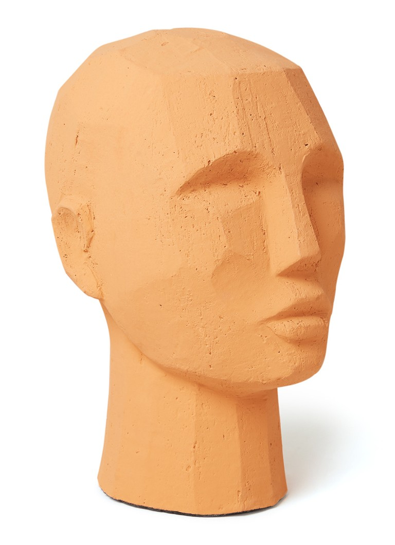 HKliving - Abstract Head ornament 25 cm - Roodbruin