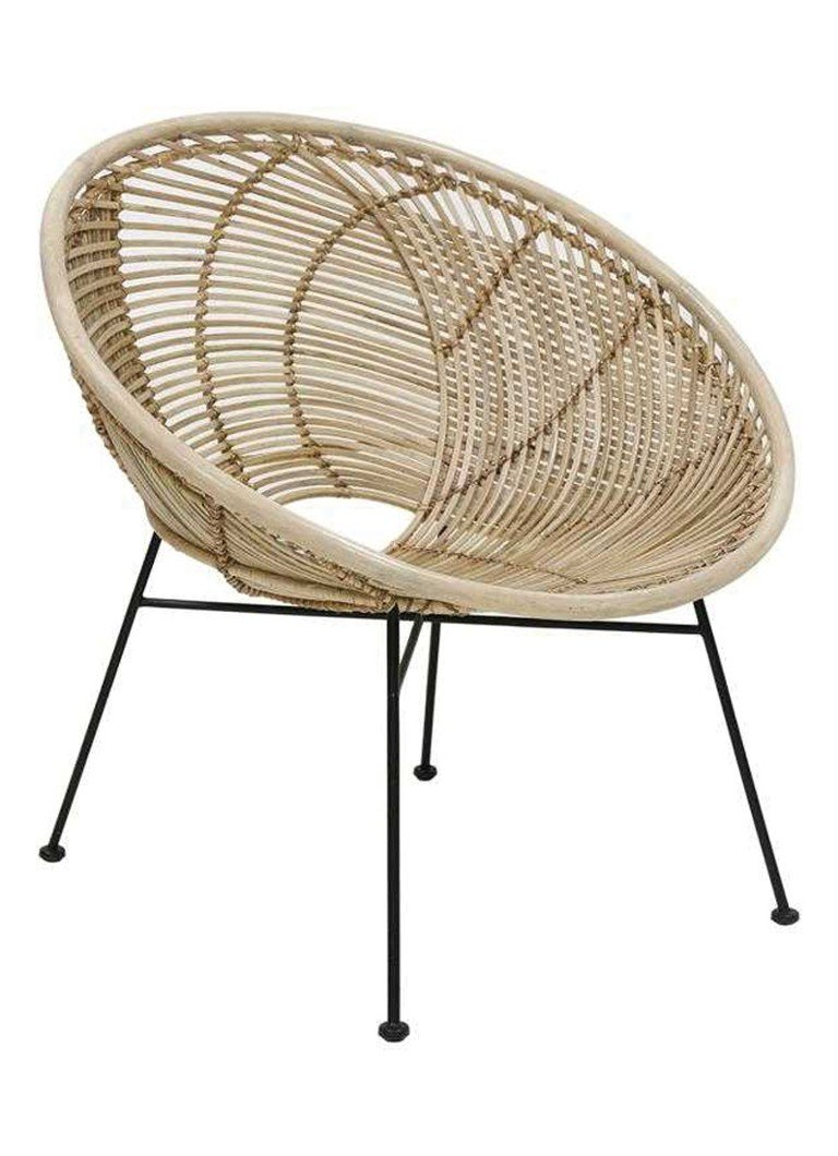 HKliving - Rattan Ball fauteuil - Naturel