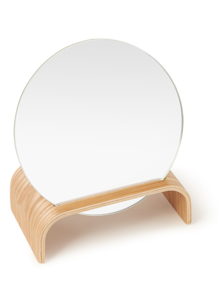 HKliving - Willow wooden mirror stand - Hazelnootbruin
