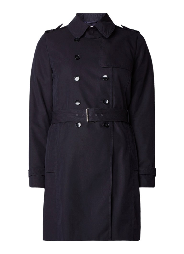 hugo boss casilie trenchcoat met gespceintuur de bijenkorf. Black Bedroom Furniture Sets. Home Design Ideas
