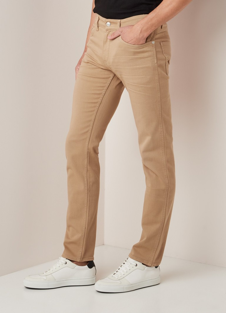 HUGO BOSS - Delaware3 slim fit jeans met stretch - Beige