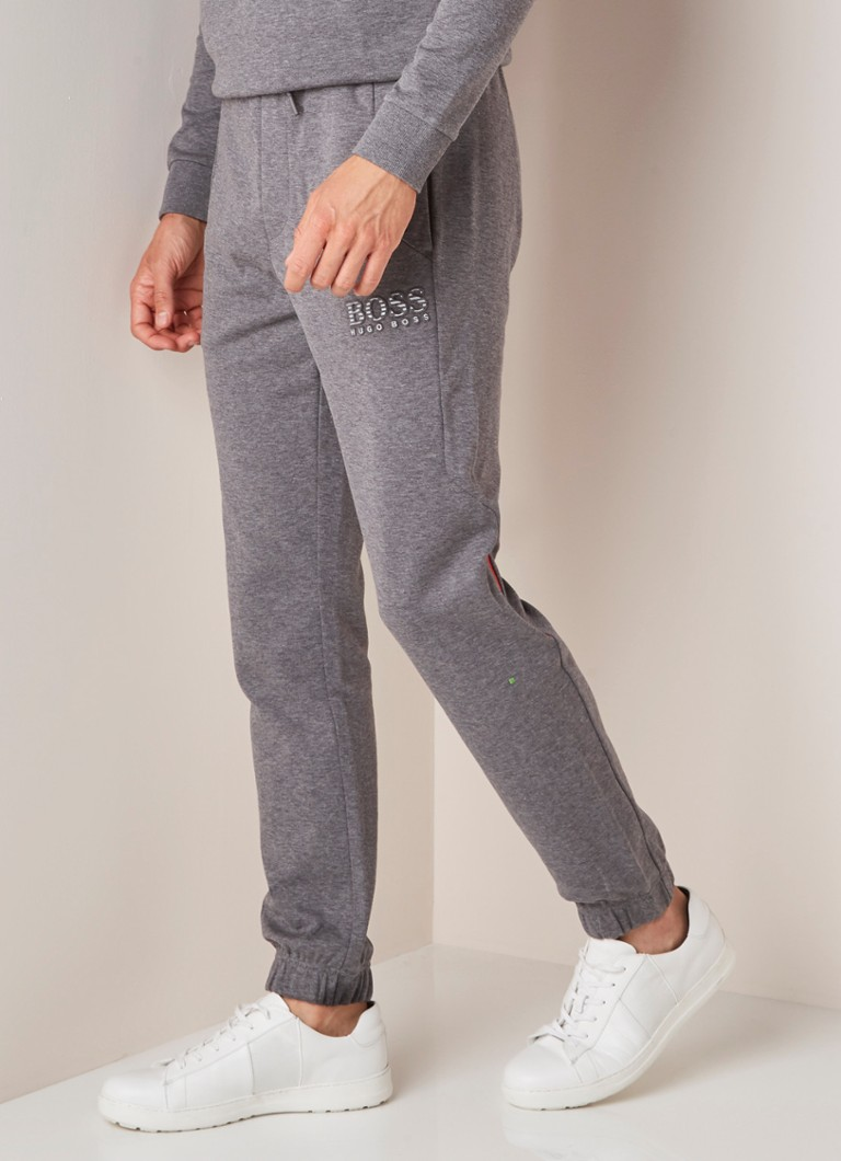 HUGO BOSS - Hadiko joggingbroek met 3D-logoprint - Middengrijs