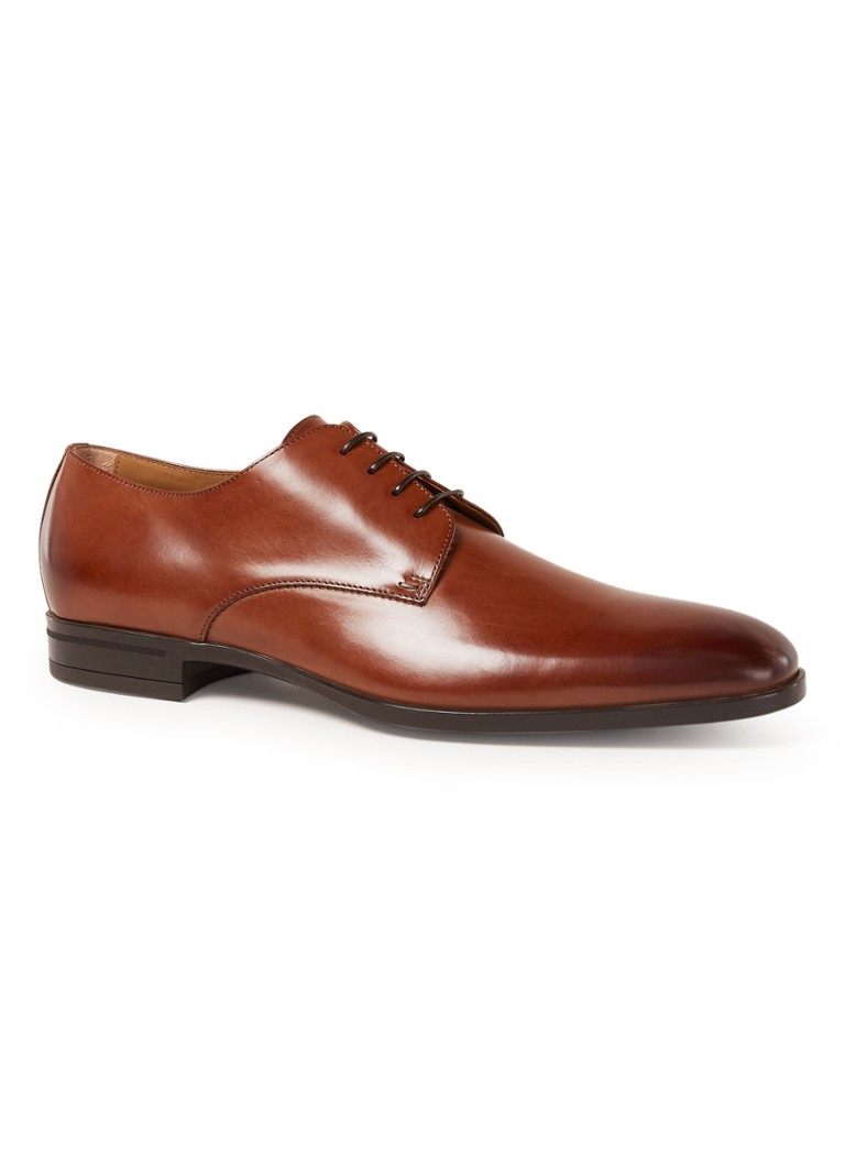 HUGO BOSS - Kensington Derby veterschoen van leer - Cognac