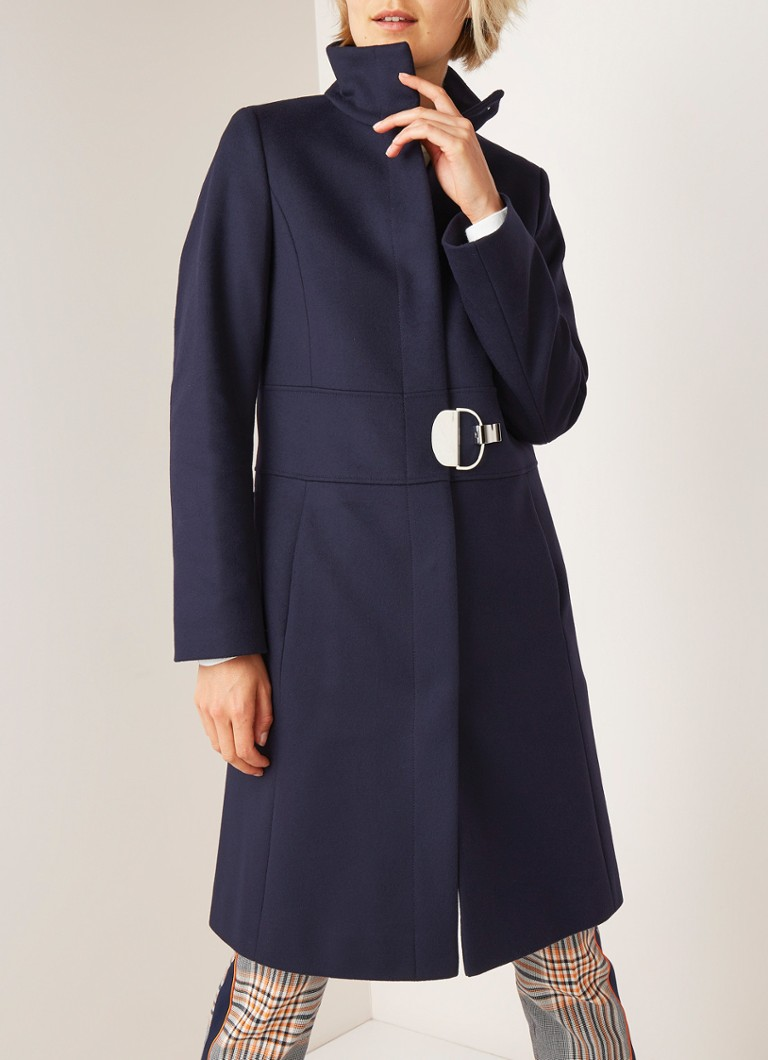 detailed pictures special for shoe buy HUGO BOSS Monata mantel in kasjmierblend met gespdetail • de Bijenkorf