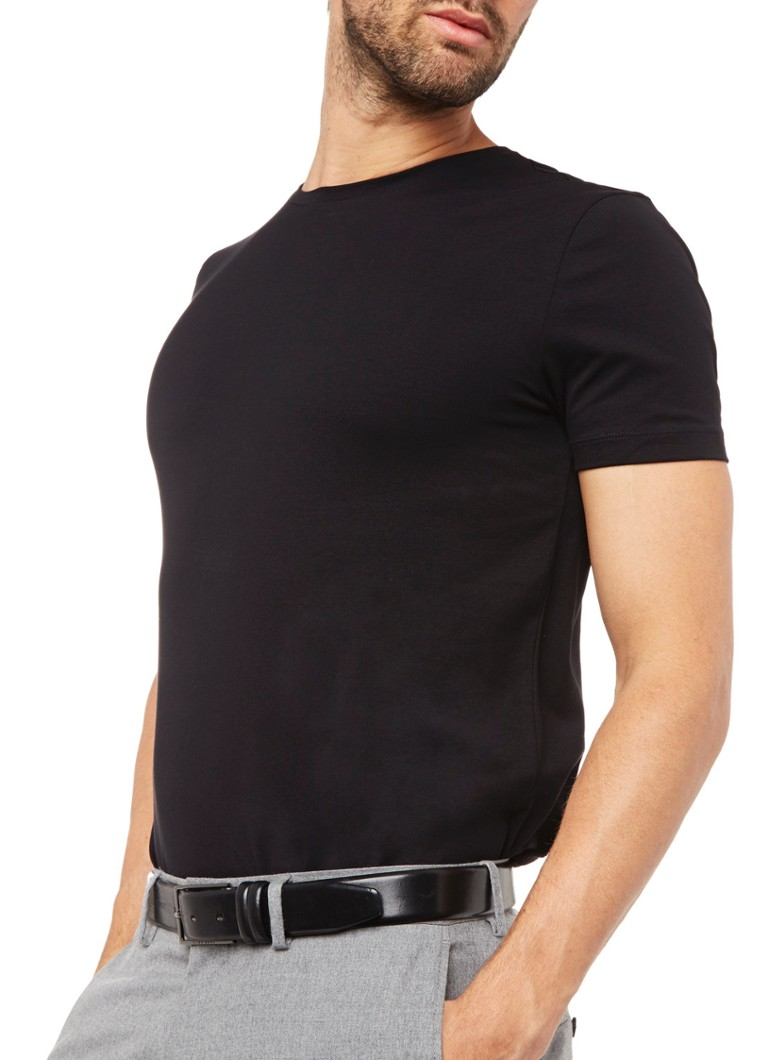 HUGO BOSS - T-shirt met ronde hals in 2-pack - Zwart