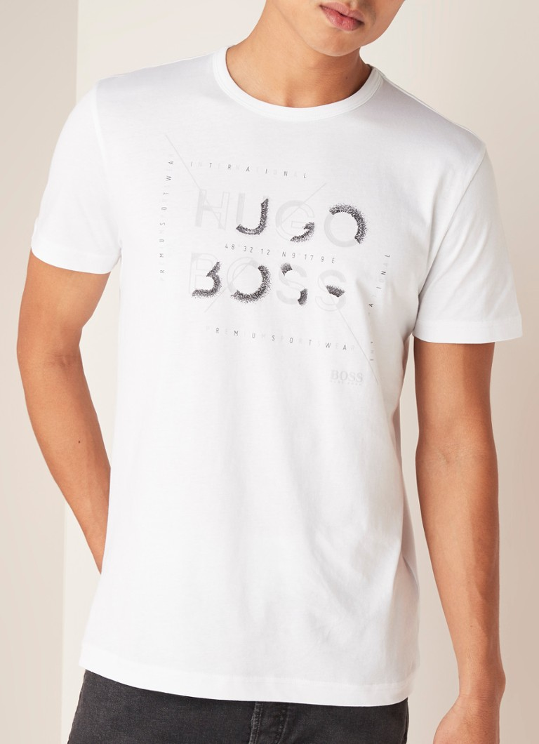 HUGO BOSS - Tee T-shirt met logoprint - Wit