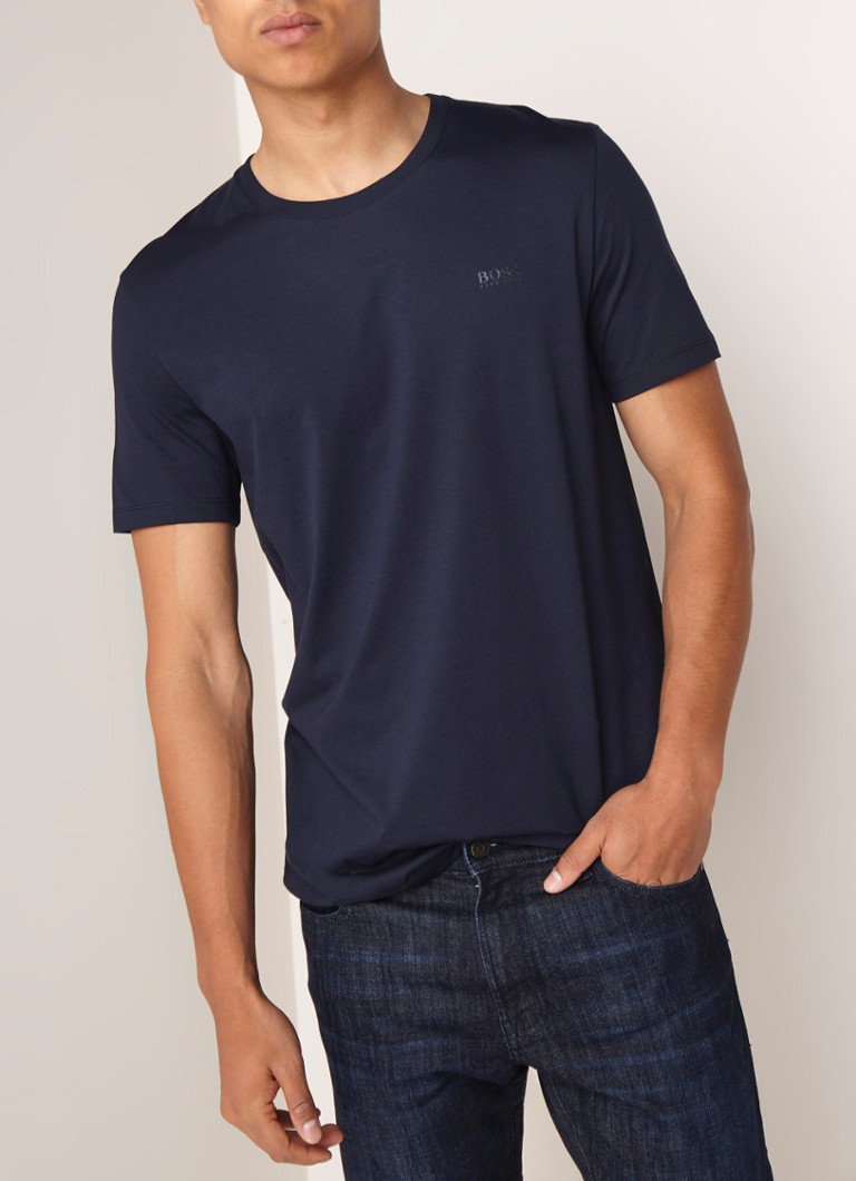 d05382144 HUGO BOSS Tiburt 33 regular fit T-shirt van katoen • de Bijenkorf