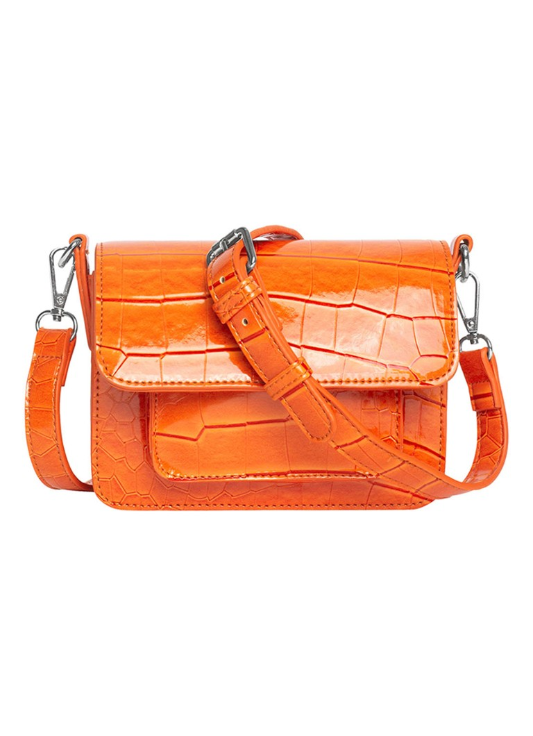 Hvisk - Cayman mini crossbodytas met crocostructuur - Oranje