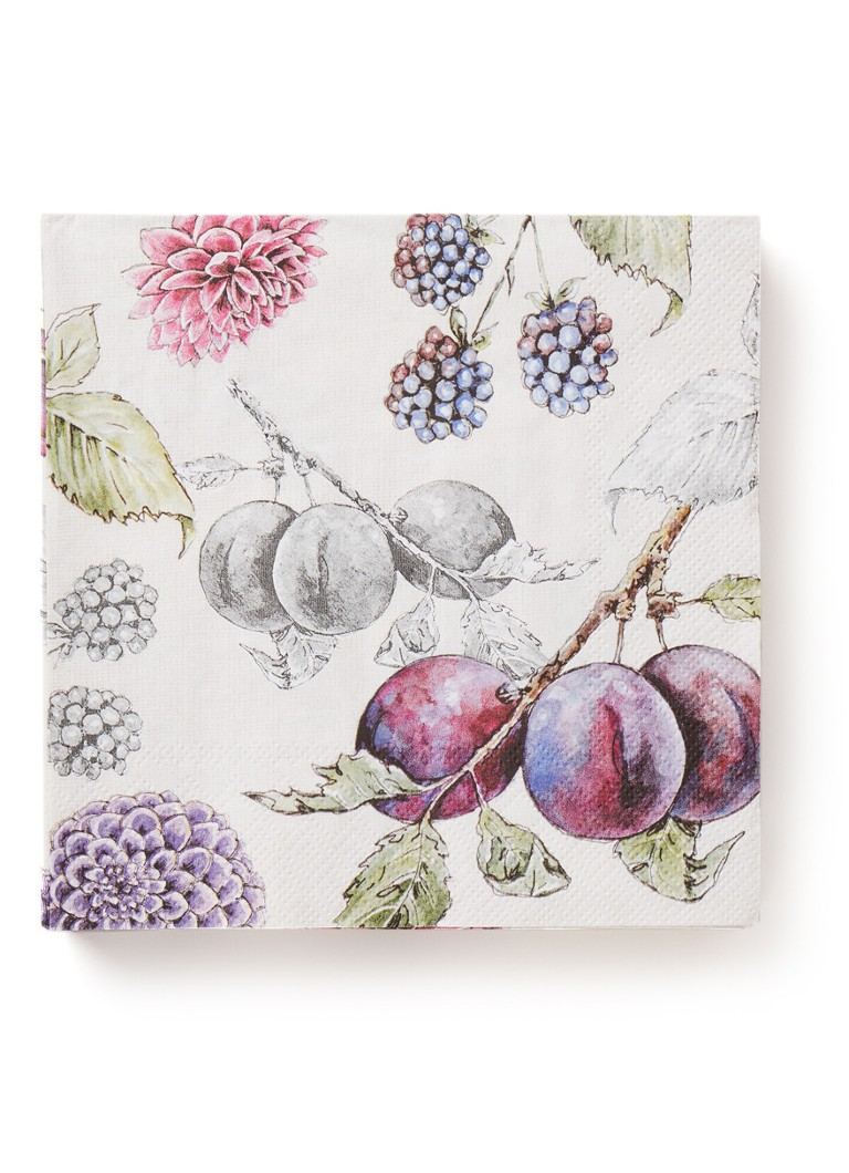 Ihr Ideal Home - Delicious Plum servetten 33 x 33 cm - Paars