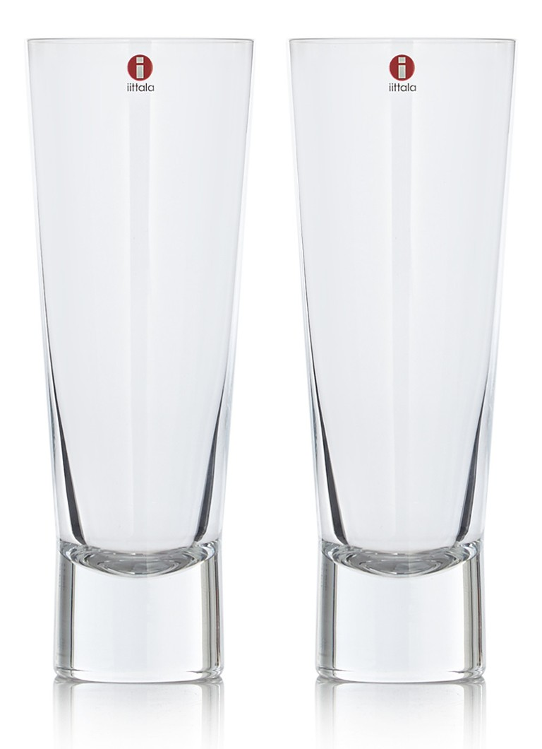 iittala - Aarne bierglas 380 ml set van 2 - Naturel