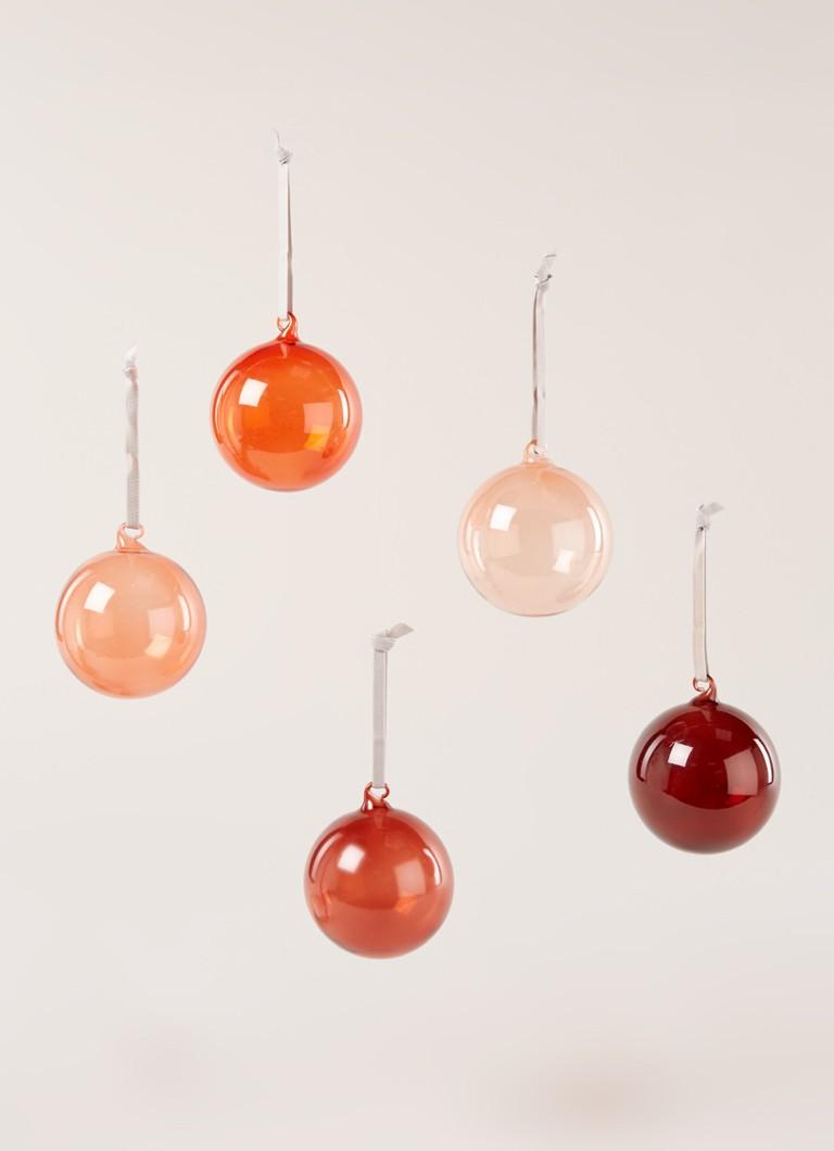 iittala Kerstbal set rood 8 cm set van 5 • de Bijenkorf