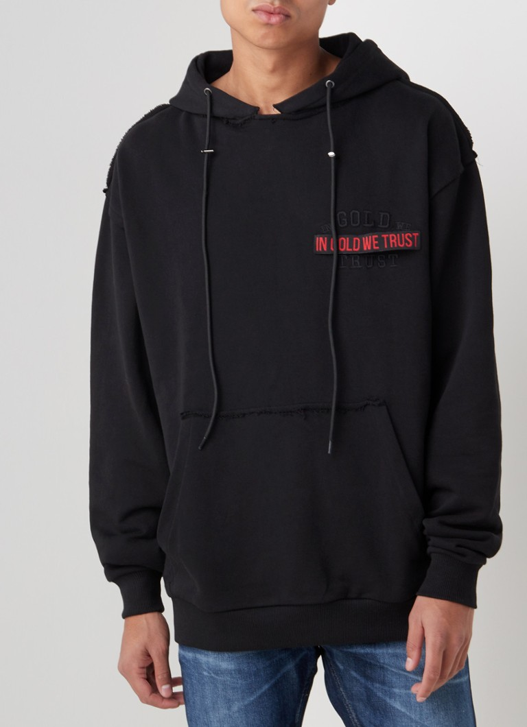 In Gold We Trust - The Vic hoodie met logoborduring - Zwart