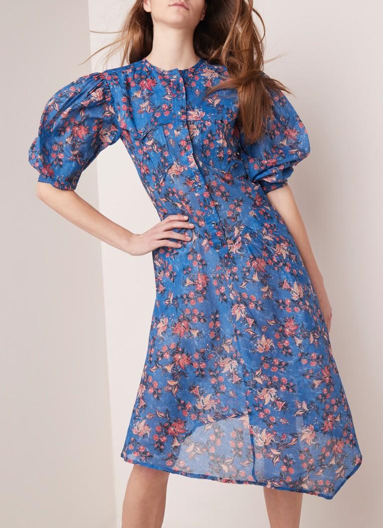 Koop Authentiek verschillende stijlen goedkoop Isabel Marant Étoile Elka blousejurk met bloemendessin en ...