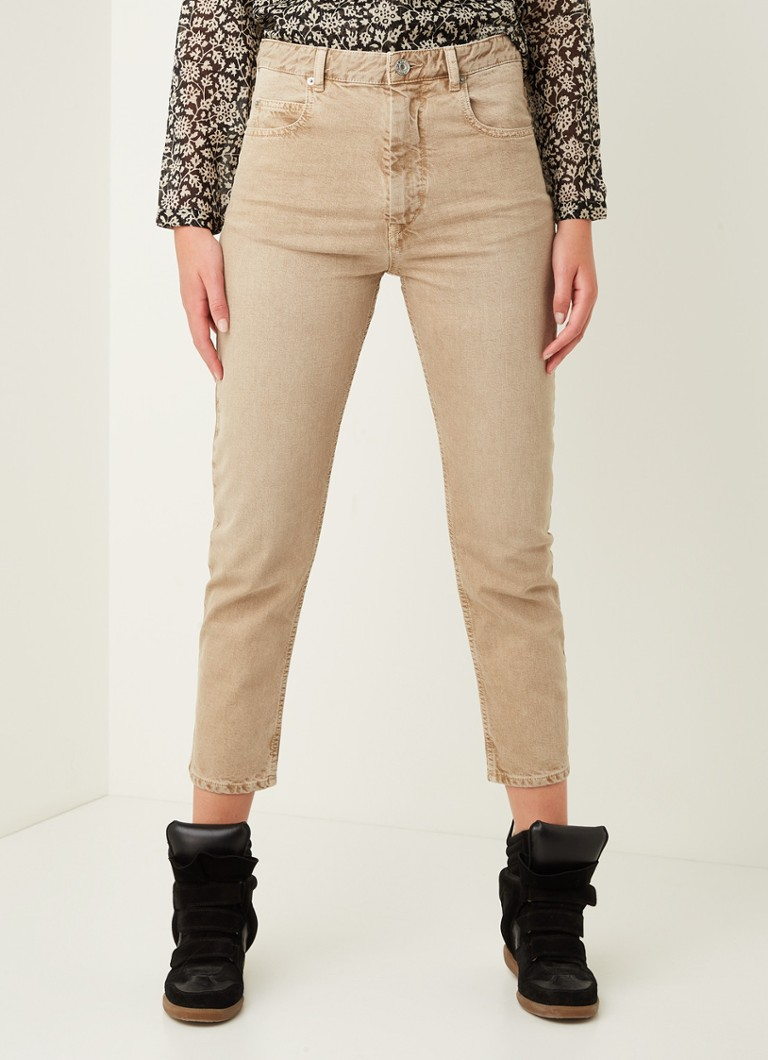 Isabel Marant Étoile - Neac high waist slim fit cropped jeans - Beige