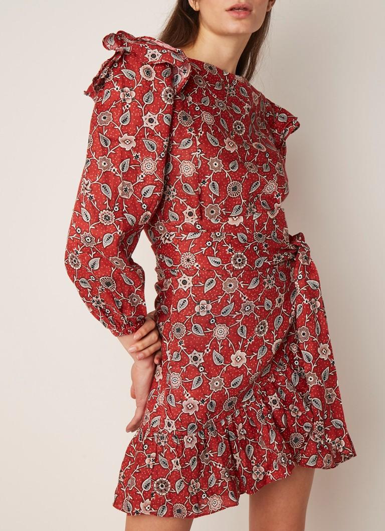 speciaal voor schoenen kosten charme Britse beschikbaarheid Isabel Marant Étoile Telicia wikkeljurk met print en ruches ...