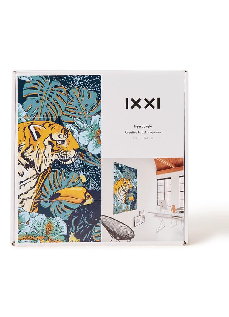 ixxi tiger jungle wanddecoratie 120 x 160 cm � de bijenkorf