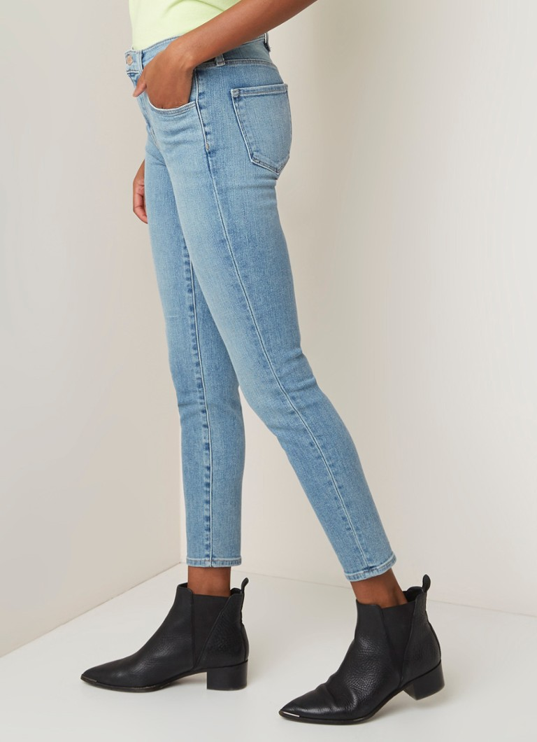 J Brand - Alana high rise cropped slim fit jeans met lichte wassing - Indigo