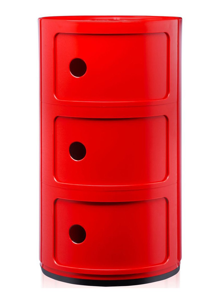 Kartell - Componibili kast rond large (3 comp.) - Rood