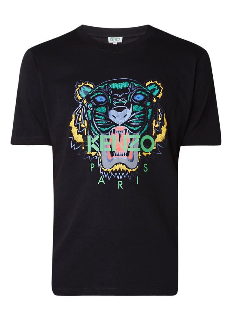 kenzo tiger t shirt met folieprint de bijenkorf. Black Bedroom Furniture Sets. Home Design Ideas