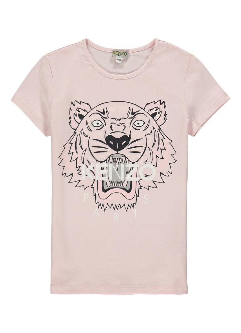 kenzo tiger t shirt met logo de bijenkorf. Black Bedroom Furniture Sets. Home Design Ideas