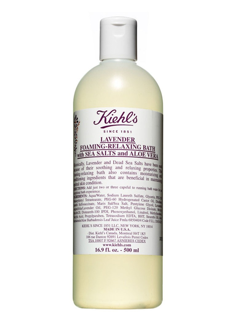 Kiehl's - Lavender Foaming-Relaxing Bath with Sea Salts and Aloe Vera - badschuim - null