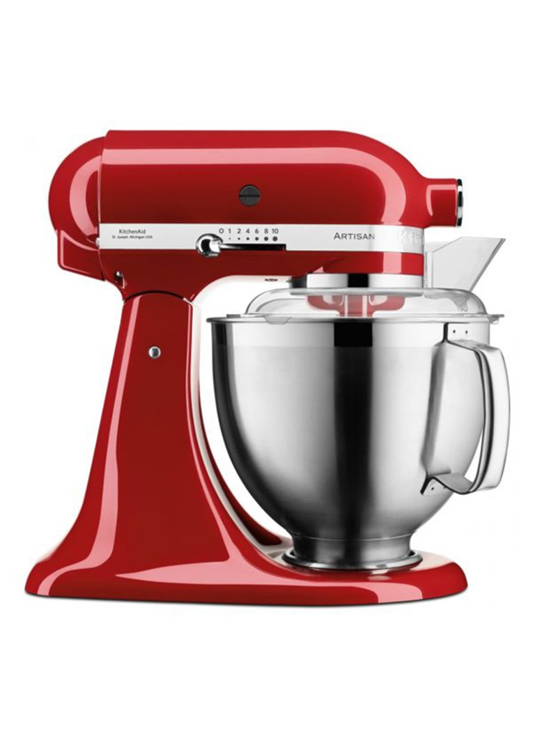 KitchenAid - Artisan keukenmachine 4,8 liter 5KSM185PS - keizerrood - Keizerrood