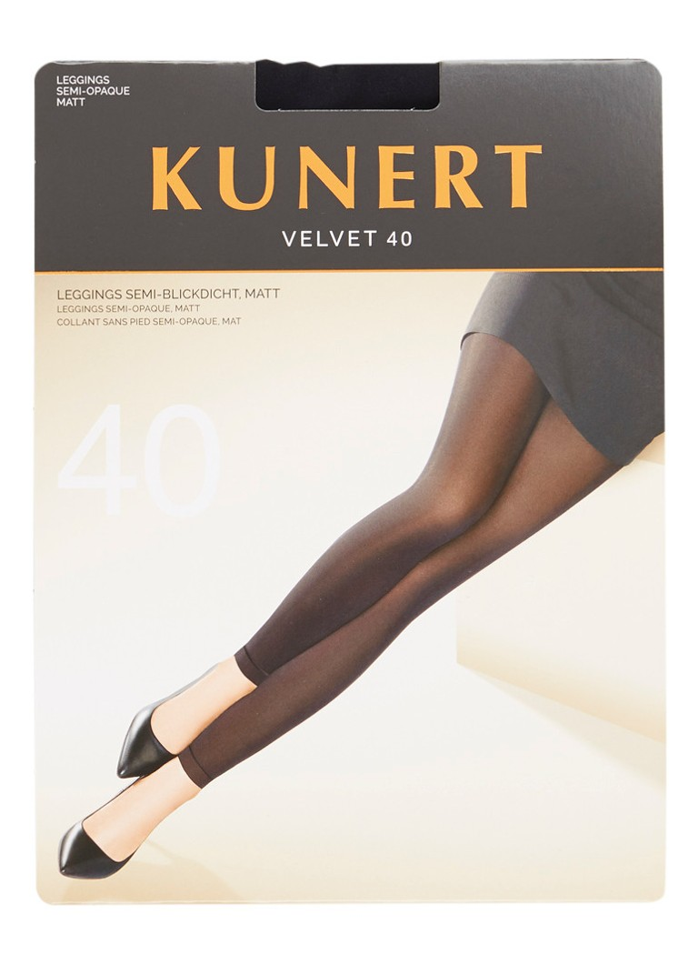 Kunert - Legging in 40 denier black - Zwart