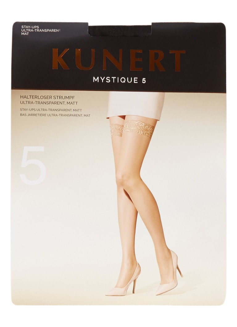 Kunert - Mystique hold-ups in 5 denier black - Zwart