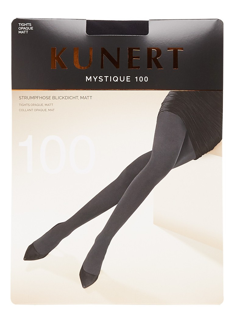 Kunert - Mystique panty in 100 denier black - Zwart