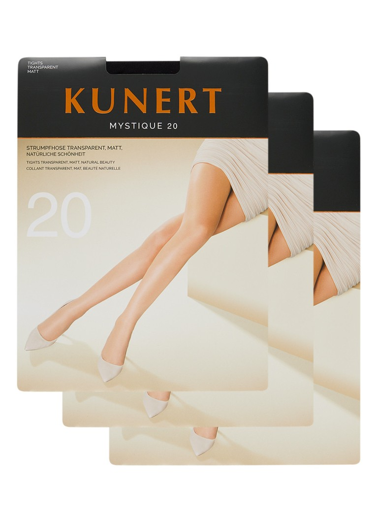 Kunert - Mystique panty in 20 denier 3-pack - Zwart