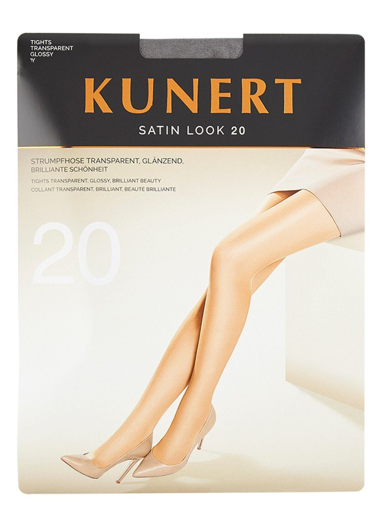 Kunert - Satin Look panty in 20 denier platin - Taupe