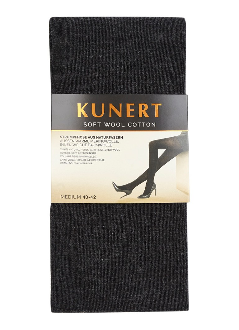 Kunert - Soft Wool Cotton maillot in wolblend antra - Antraciet