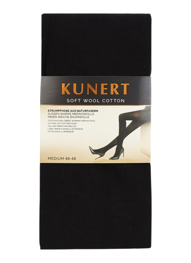 Kunert - Soft Wool Cotton maillot in wolblend black - Zwart