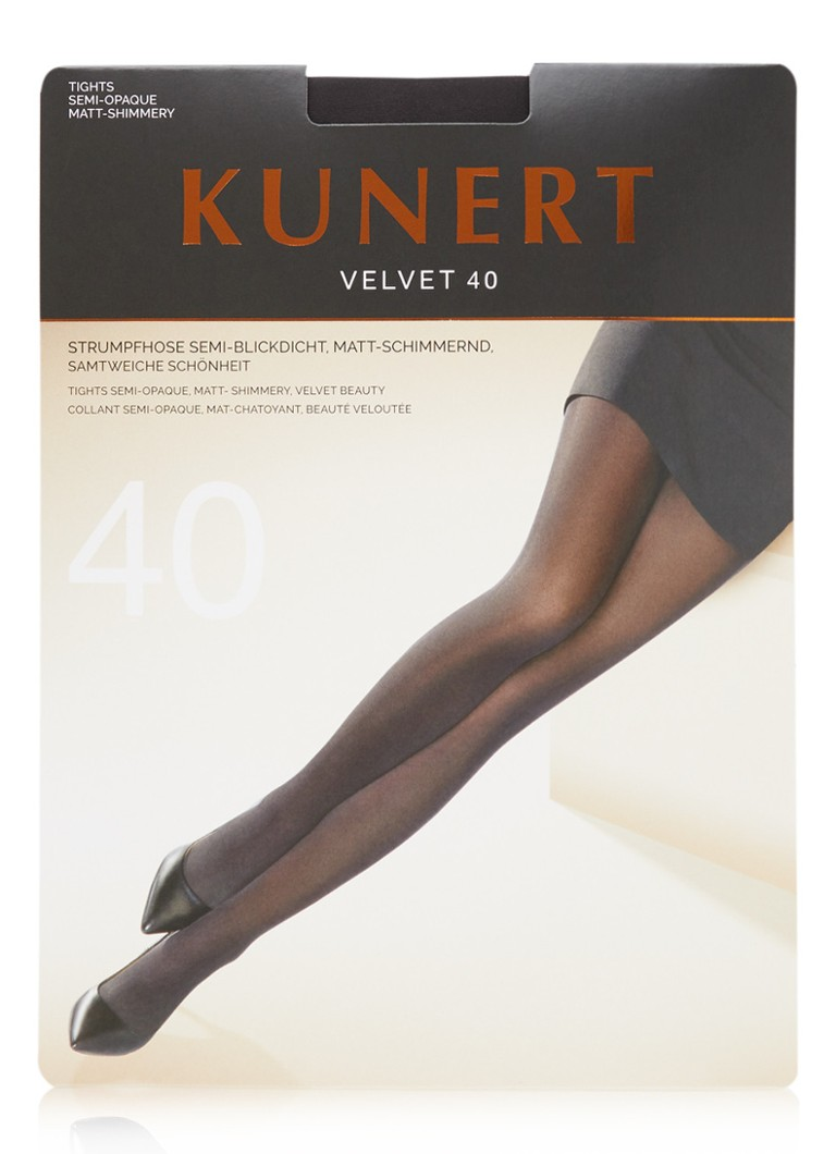 Kunert - Velvet panty in 40 denier  - Antraciet