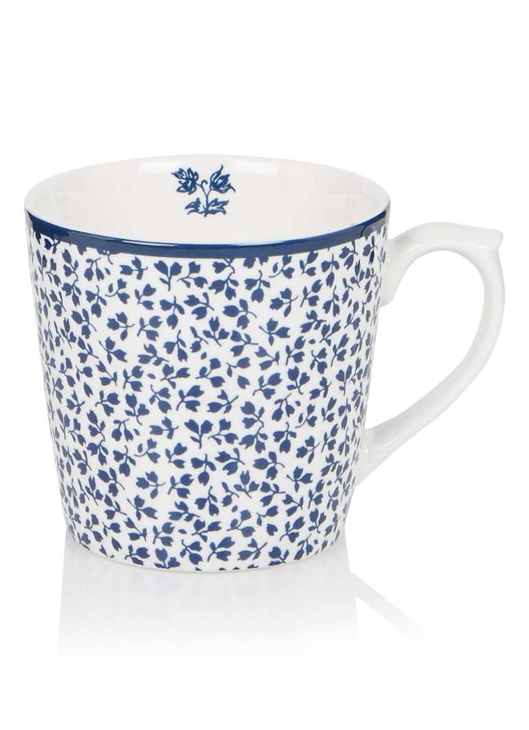 Laura Ashley - Floris kopje 22 cl - Royalblauw