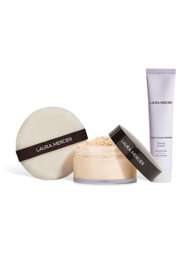 Laura Mercier - Pure Canvas Primer - Blurring & Translucent Loose Setting Powder Set - Limited Edition make-up set - null