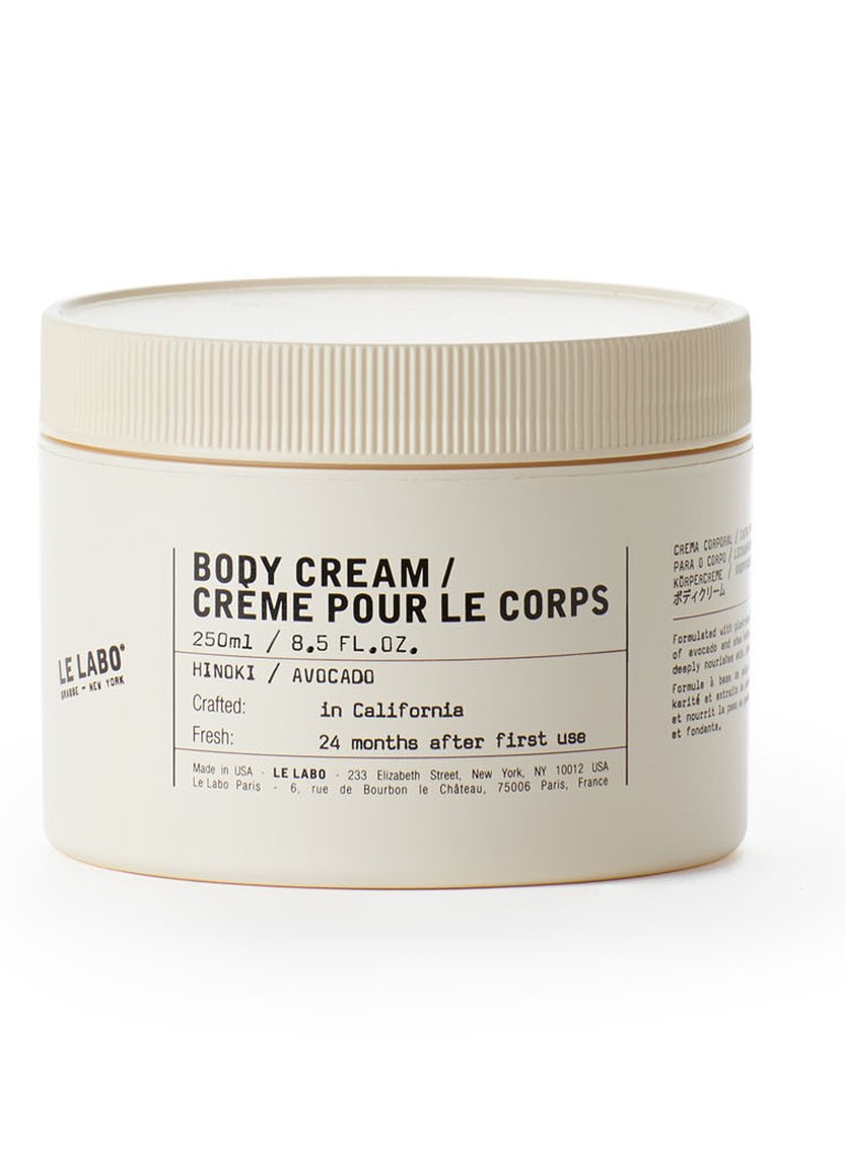 Le Labo - Hinoki / Avocado Oil Body Cream - bodycrème -