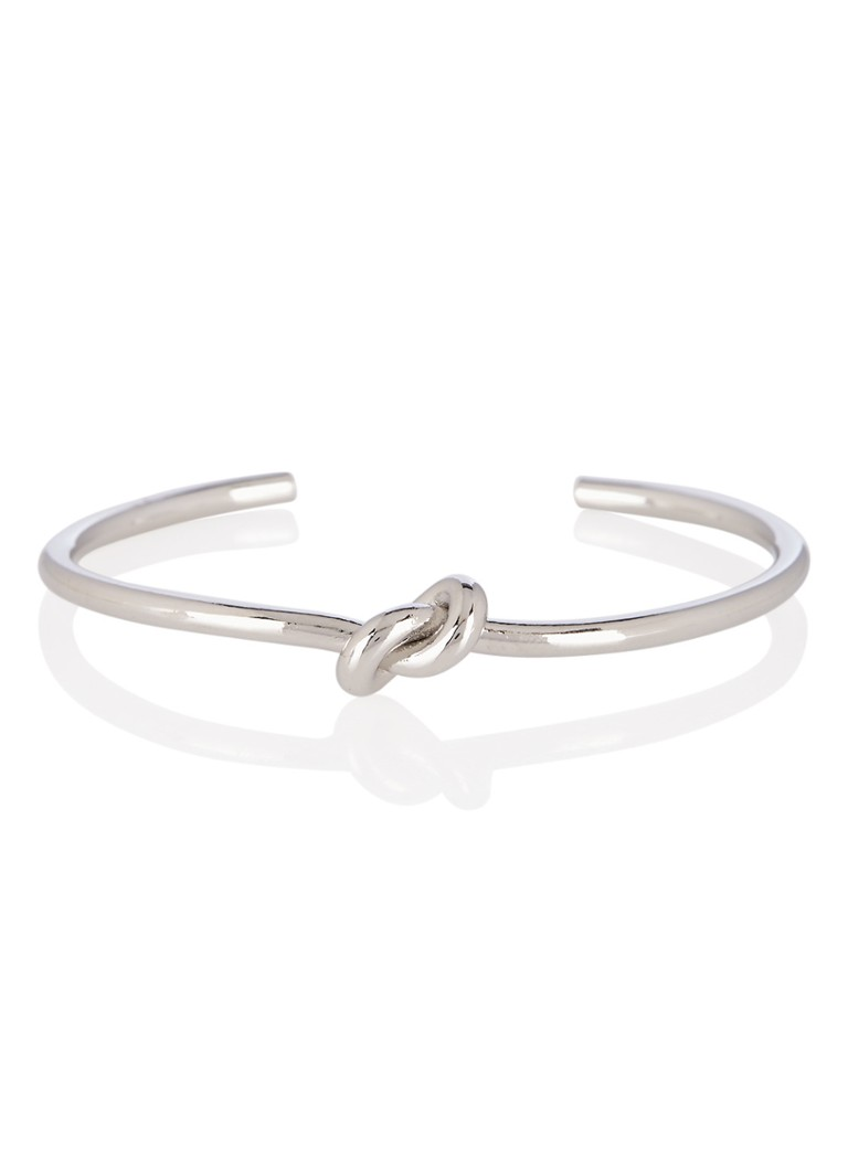 Les Cleias - Bangle met knoopdetail - Zilver
