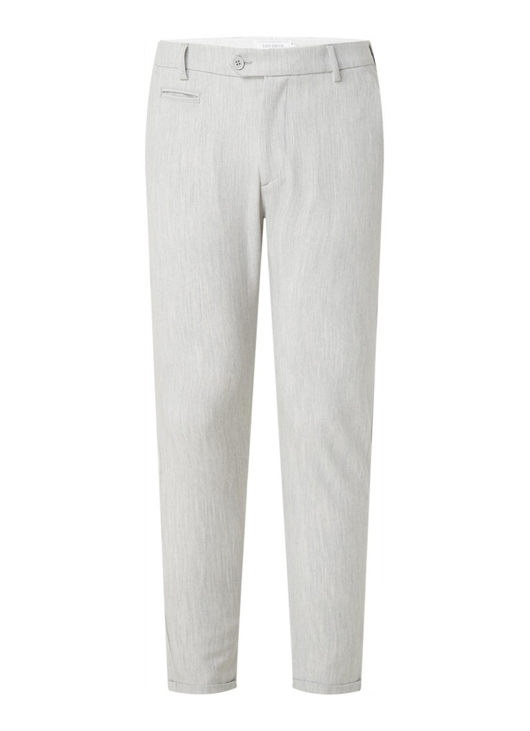 Les Deux - Como Light slim fit pantalon met stretch - Lichtgrijs