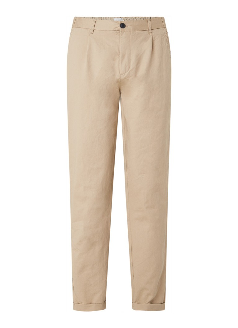 Les Deux - Pino slim fit chino in linnenblend - Zand