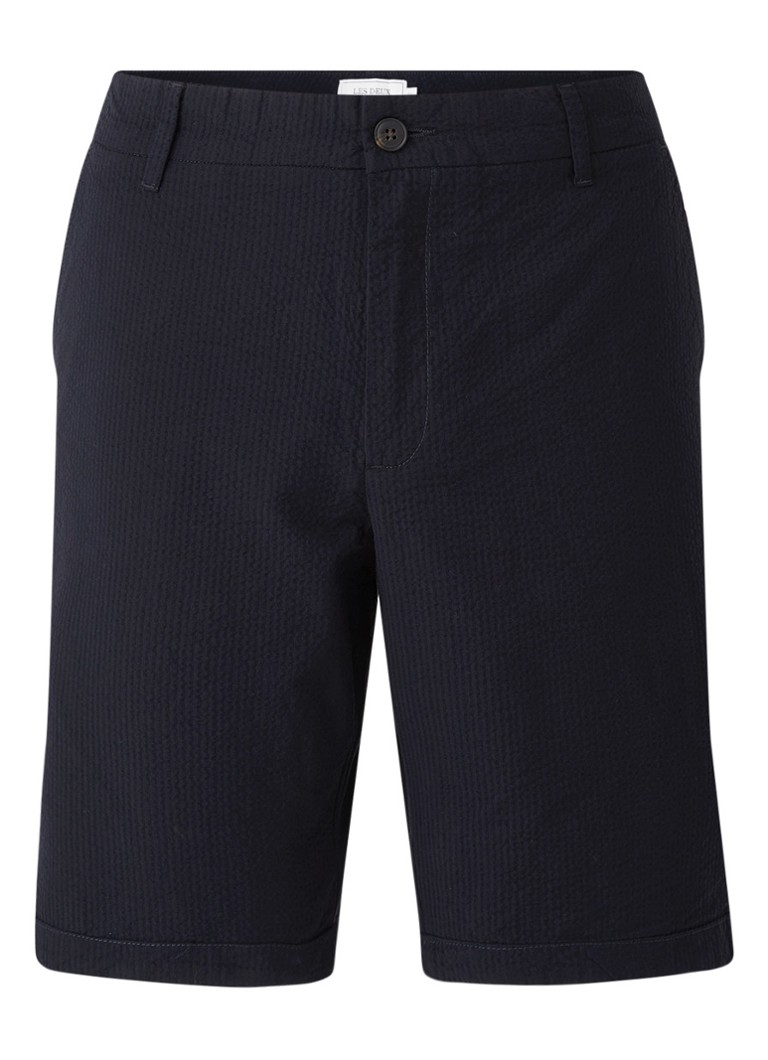 Les Deux - Regular fit chino korte broek - Donkerblauw